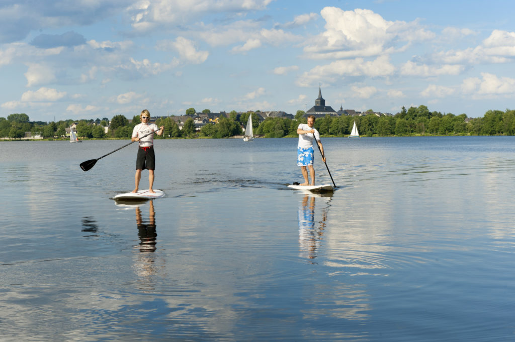 Stand Up Paddler am Weißenstädter See