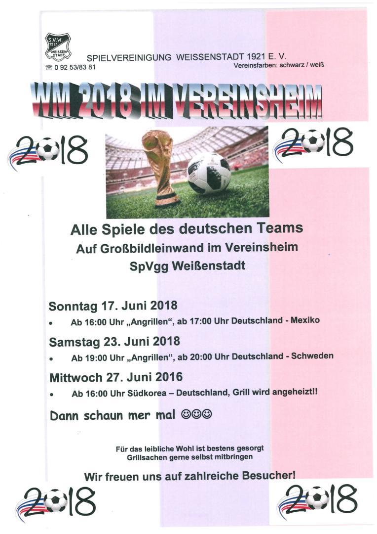 WM im Vereinsheim