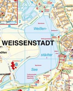 Weißenstadt Stadtkarte Ausschnitt See