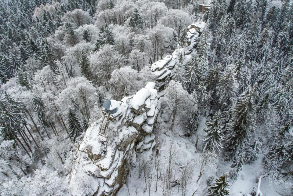 Großer Waldstein im Winter, Berge um Weissenstadt