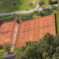 Tennisplatz von oben