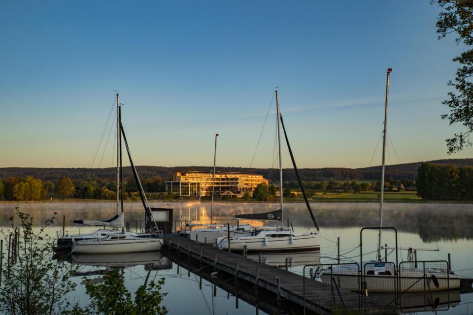 Segelboote am Weißenstädter See